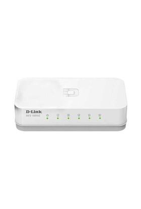 D-Link DES-1005C 5 Port 10/100Bps Yönetilemez Plastik Kasa Masaüstü Switch