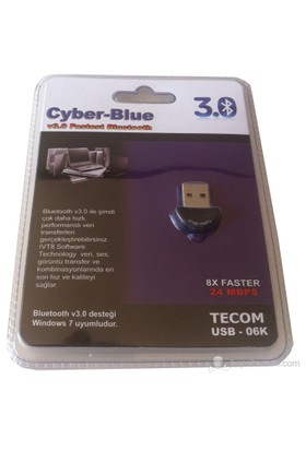 Tecom Cyber Blue Usb 3.0 Bluetooth