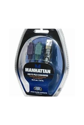 Manhattan 179027 Dönüştürücü USB-PS/2 (1xUSB+2xPS/2)