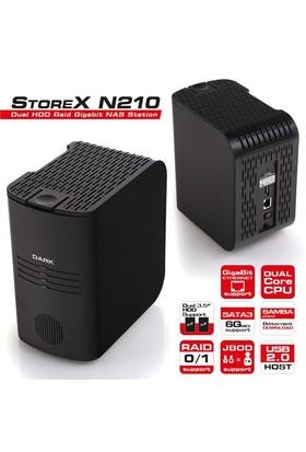 "Dark StoreX N210 2x3.5"" HDD ve RAID Destekli Gigabit NAS İstasyonu (DK-AC-DSN210)"