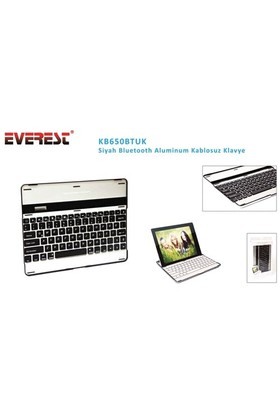 Everest Kb650btuk Siyah Bluetooth Aluminum Kablosuz Klavye
