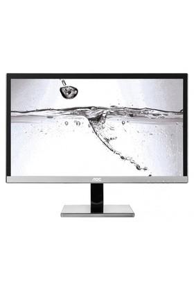 """AOC U2477PWQ 23.6"""" 4ms (Analog+DVI+HDMI+Display) 4K Ultra HD PLS Monitör"""