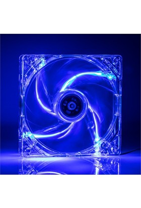 TX 12 cm Mavi Ledli Sessiz Şeffaf Kasa Fanı (TXCCF12BL)