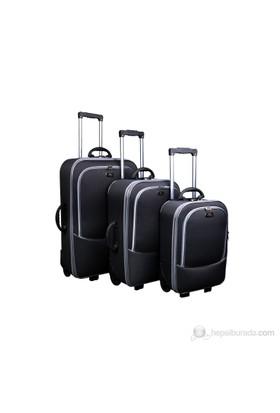 MMS Üçlü Valiz Seti Siyah