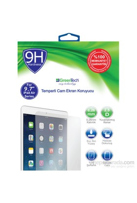 "Greentech Apple iPad Air Glass Cam 9,7"" Ekran Koruyucu"