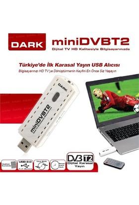 Dark miniDVBT2 Dijital Karasal Yayın Uyumlu Kayıt Özellikli Harici USB DVB-T2 HD TV Kartı (DK-AC-TVUSBDVBT2)