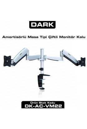 Dark 2 Adet Monitör Takılaben, Amortisörlü, Masa Monte Monitör Kolu (DK-AC-VM22)