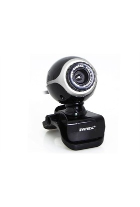 Everest Sc-626 Usb Mikrofonlu Siyah/Gümüş Pc Kamera