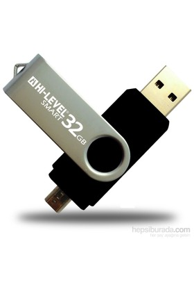 Hi-Level OTG Smart 32 GB 2.0 Siyah USB Bellek HLV-USB20B/32G