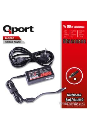 Qport Dell 65W 19.5V 3.34A 7.4*5.0 Dell Inspiron Notebook Adaptor-Pinli (QS-DE03)