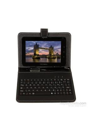 """Mobee 7.9"""" Ayaklı Siyah Mikro USB Türkçe Klavyeli Tablet Kılıfı Mouse + Kulaklık Hediyeli"""