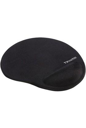 TX ErgoPad Plus Siyah Jel Bilek Destekli Mousepad (250x220x5mm) (TXACMPAD01)