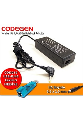 Codegen Toshiba 19V 4,74A 90W Notebook Adaptör