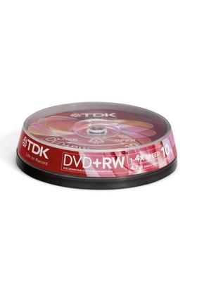 TDK 4.7GB 4X 10'Lu Kutulu DVD+RW DVD+RW47CB104X