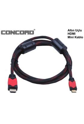Concord Smart 1.5 Metre Altın Kaplamalı V1.3 1080p Mini HDMI Kablo