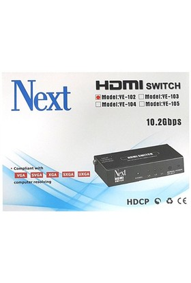 Next Ye-102 2X1 Hdmı Switch - 2 Port Kumandalı