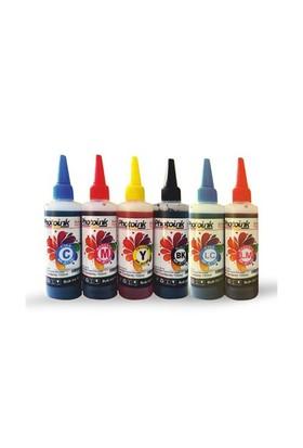 Photo Ink Epson L100/110/200/210//300/310/355/455/550/800/810/850/1300 Serisi 6X100 Ml Mürekkep Seti