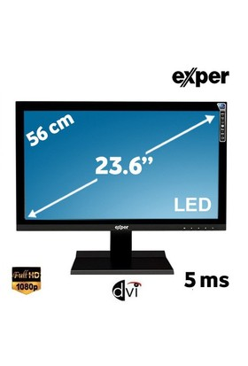 "Exper H6L-GVDS 23.6"" 5ms (Analog+DVI) Full HD Led Monitör"
