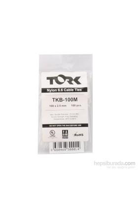 Tork Beyaz Kablo Bağı 2.5-100 100Lü Paket