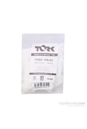 Tork Beyaz Kablo Bağı 2.5-100 Etiketli 100Lü Paket
