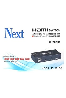Next Ye-104 4X1 Hdmı Switch - 4 Port Kumandalı
