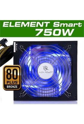 High Power Element Smart 750W Mavi Ledli 80+ Bronze 56A@12V Power Supply (HP-EP-750S)