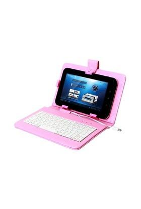 Everest Kb-Tab07 Pembe 7` Mini Usb Türkçe Q Klavye + Tablet Pc Kılıfı