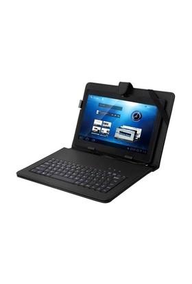Everest Kb-Tab10 Siyah 10` Mini Usb Türkçe Q Klavye + Tablet Pc Kılıfı