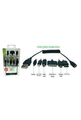 Greentech GT-UC21 Makaralı USB Şarj Kablosu