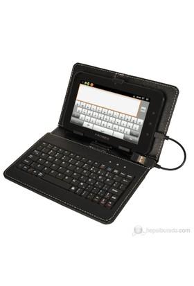 """Mobee 7"""" Siyah Mikro USB 2.0 Klavyeli Tablet Kılıfı"""