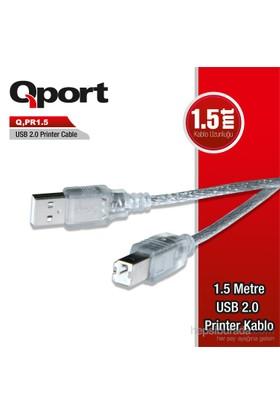 Qport PR 1.5 USB 2.0 1.5 M Printer Kablosu (Q-PR1.5)