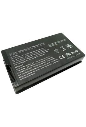 Retro RASL-054 Asus F80, F81, F83, X61, X81, X82, X85, X88 Siyah Notebook Bataryası