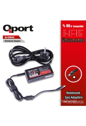 Qport QS-UN04 Universal-65W 19.V 3.42A 5.5*2.5 Notebook Standart Adaptor