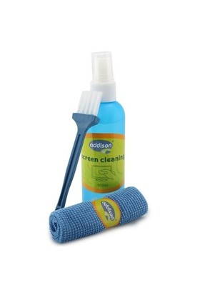 Addison 300782 100ml Sprey + Fiber Bez + Fırça Temizleme Seti