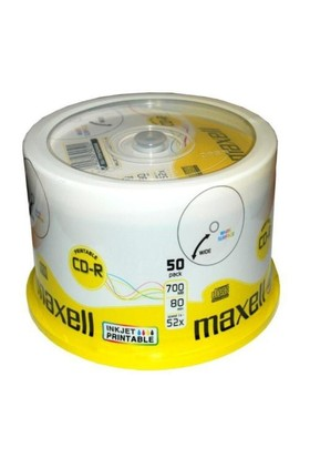 Maxell CD-R 52X 700MB 50'li Cakebox Printable