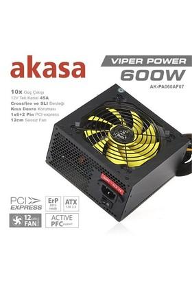 Akasa Viper 600W 80+ Bronze Sertifikalı Single Rail Güç Kaynağı (AK-PA060AF07)