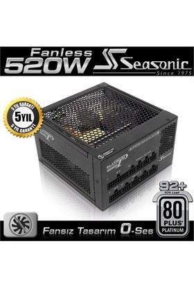 Seasonic P520FL Fansız 80+ Platinum 520W Single Rail Güç Kaynağı (SEA-P520FL)
