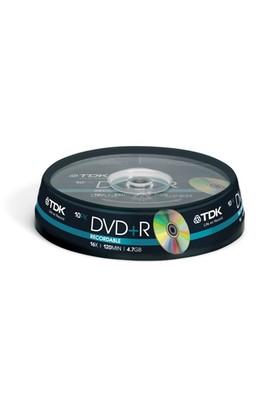 TDK DVD+R 10'Lu Cakebox 16x 4.7GB (47CB1016X)