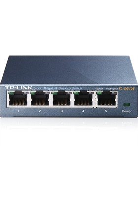 TP-LINK TL-SG105 5-Port 10/100/1000Mbps Qos Destekli Tak ve Kullan % 65 Enerji Tasarruflu Gigabit Switch