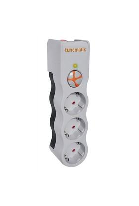 Tunçmatik Enerji Koruma Prizi Powersurge 3'lü Beyaz 525 JOULE (TSK5083)