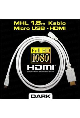 Dark MHL Micro USB Tabletler için HDMI/HTC Dönüştürücü (DK-HD-AMHL180TB)