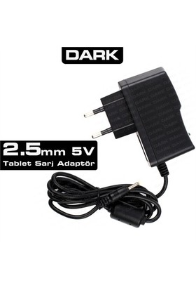 Dark 5V 2.5mm 2A Universal Tablet Şarj Adaptörü (DK-AC-TBAD5V2A25)