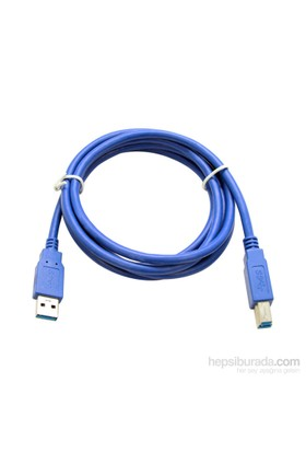 Flaxes FPR-301 USB 3.0 1,5M %100 Bakır Yazıcı Kablo AM-BM