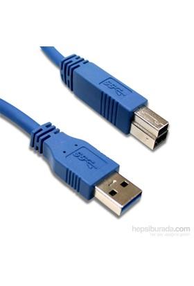 Flaxes FPR-303 USB 3.0 3M %100 Bakır Yazıcı Kablosu AM-BM
