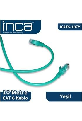 Inca ICAT6-10TY CAT6 23 AWG 10M Yeşil