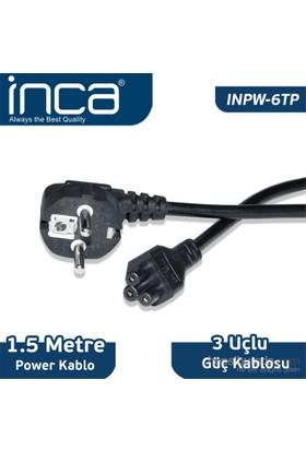 Inca INPW-06TP 1,5M Notebook Power Kablo