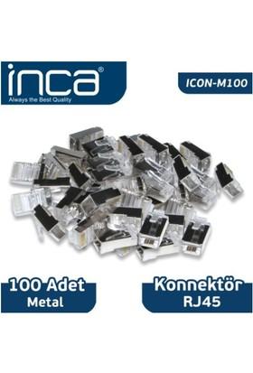 Inca RJ-45 100 Adet Metal Konnektör ICON-M100