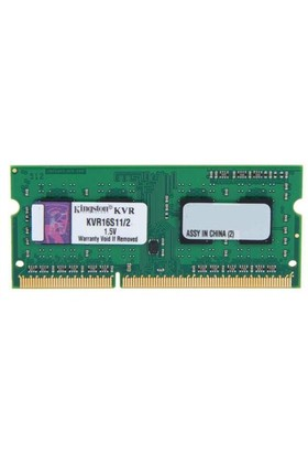 Kingston ValueRAM 2GB 1600MHz DDR3 Notebook Ram KVR16S11S6/2