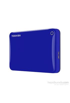 """Toshiba Canvio Connect II 2TB 2.5"""" Mavi Taşınabilir Disk HDTC820EL3CA"""