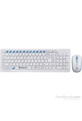 Defender Combo Skyline 895 Beyaz Kablosuz Klavye Mouse Set 45895